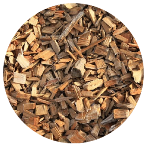 Wood chips as a form of biomass fuel