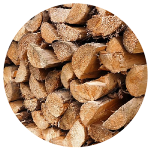 Logs as a form of biomass fuel